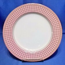 """ROYAL DOULTON PROVENCE ROUGE PLAID DINNER PLATE 11"""""""