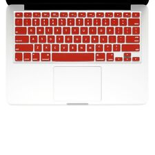 "UNIK CASE-Silicone Keyboard Cover for Macbook Pro 13"" 15"" 17""Unibody-Red"