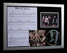 BON JOVI Bed Of Roses TOP QUALITY CD MUSIC FRAMED DISPLAY+EXPRESS GLOBAL SHIP