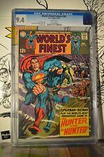 World's Finest Comics #181 CGC 9.4 Batman Superman 1968 white pages
