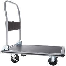 Carrello a pianale manuale da trasporto pieghevole carrelli pianale nero 300kg n
