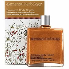 Elemental Herbology Botanical Body Repair, Limited Edition Gold Shimmer Body Oil