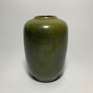 Ben Owens Master Potter Frogskin Green Vase - Beautiful!