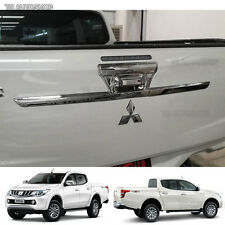 Chrome Rear Tailgate Accent Cover Fit Mitsubishi L200 Triton Pickup 2015 2016