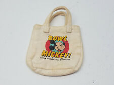 Barbie Doll Friends Bowl Mickey Mouse Tote Bag Fashion Purse 1986 Disney Mattel