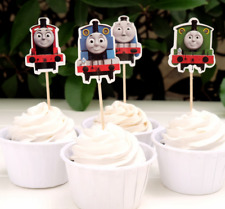 24  Cupcake Cup Decorating,Toppers  PARTY DECORATION, Thomas the tank engine