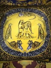 """VERSACE CUSHION PILLOW  TIGER LEOPARD AFRICA BED DECOR with INSERT 27""""  Retired"""