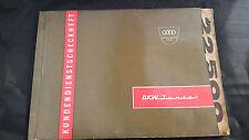 Livre de Manuel de Service de Scheckheft DKW Junior de 1961 Rare