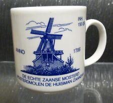 Evansberg Pottery Tazza Germania Ovest che mostra la senape MULINO HOLLAND