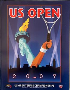2007 OFFICIAL US OPEN TENNIS CHAMPIONSHIP PROGRAM FEDERER HENIN 256 PAGES