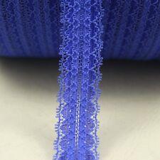 10yards/lot Width 2.2CM blue bilateral Elastic Lace Fabric diy clothes fabric