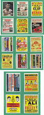 Cassius Clay ( Muhammad Ali ) the early years fight posters Trading Card Set aka