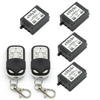 Smart RF Relay Wireless Remote Control Switch with 2 Transmitters AC 220V 4X1CH