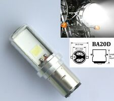 10W SCOOTER BA20D H6 2 COB LED Hi/Lo Moped ATV Motorbike Headlight Bulb US POST