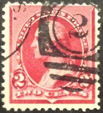 1890 2c Washington, cap on both 2s, regular issue, Scott #220c, Used, Fine