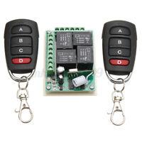 433MHz 12V 4CH Channel Relay RF Wireless Remote Control Switch Receiver  j