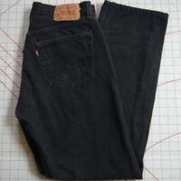 Levi's 501 Button Fly Mom Jeans Straight Denim  Black 33 31 Women's 31/31 USA