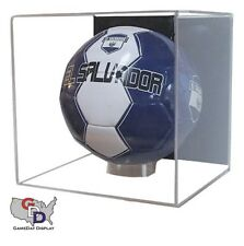 Acrylic Full Size Soccer Ball Display Case Wall Mount Cube MLS FIFA UEFA