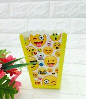 EMOJI THEMED POPCORN BOXES | LOLLY BOX PARTY SUPPLIES | FAVOURS