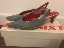 Women's Miss Sixty Pointed Slingback Denim Shoes