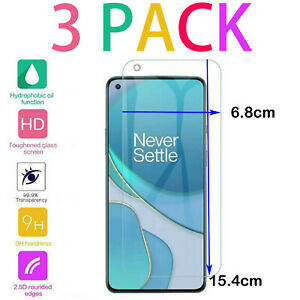 For OnePlus 8 7 6 5T Tempered Gorilla Glass Screen Protector - CRYSTAL CLEAR