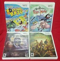 Nintendo Wii & Wii U Nickelodeon Game Lot Spongebob Billy Mandy Spiderwick Wild