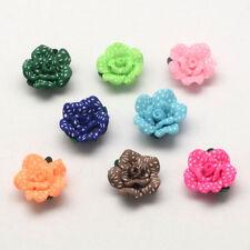 14 Stück Fimo Perlen Polymer Clay Beads Blume Blüte  Rose (1574)