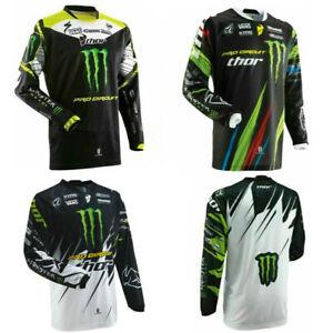 Mens Cycling Jersey Monster Energy Off-Road Moto Dirt ATV MX DH MTB Racing Shirt