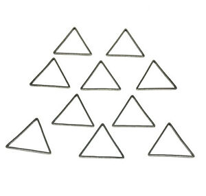 stainless steel geometric triangle links 20mm connectors matte silver