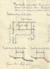 Manoscritto Verbale di Deposito Sentenza Arbitra Mentale Pretura Bergamo 1879