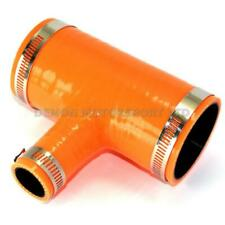 Orange Silicone T Piece Hose (25mm BOV Branch) SELECT SIZE / CLAMPS