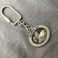 Route 66 Keychain Keyring Spinner Car Metal