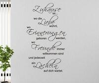 citation d'Art Mural La Maison où la amour wohnt famille Stickers muraux DICTON