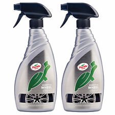 2 x Turtle Wax Essential Car Alloy Wheel Cleaner Dirt Brake Dust Remover 500ml