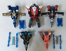 Loose Lot Of 5 Transformers Energon Air Team PowerLinx Combiner Superion Maximus