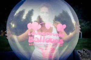 "1 x Cattex 32"" LONGNECK CLEAR Riesenluftballon *LOONERWORLD LOGO*XXL NECK*"
