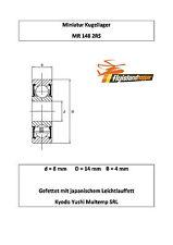 10x Kugellager MR 148 2RS 8x14x4 mm High Precision Ball Bearing 8 x 14 x 4 mm
