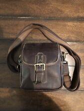 Tiding Mens Genuine Leather Small Waist Messenger Crossbody Bag Man Purse