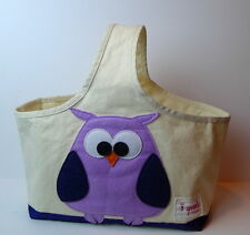 3 Sprouts Purple Owl Shopping Trolley Caddy Bag
