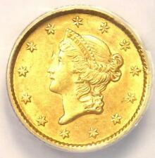 1853 Liberty Gold Dollar Coin G$1 - ANACS AU58 Details - Rare Certified Coin!