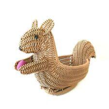 Bread Basket Fruit Display Basket Imitation Rattan Squirrel Shape Candy Plates
