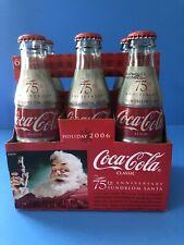 2006 Coca Cola Bottles 75th Anniversary Sundblom Santa 6 Pack Unopened