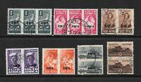 1943 King George VI SG123 to SG130 set X 7 pairs & Blocks Used SOUTH WEST AFRICA