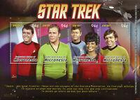 Micronesia 2008 MNH Star Trek Captain Kirk Scotty Dr McCoy Uhura 4v M/S I Stamps
