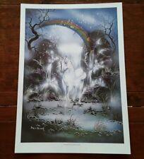 Dreamtime Unicorn Poster. Peter E  Pracownik. Rare Item produced in the 1990's