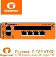 New Gigamon GTP-ATX01 G-TAP A-TX Always on 4 Port 1GB Network Tap w/AC