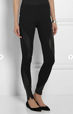 McQ/Alexander McQueen Leather-paneled stretch-jersey leggings M/UK10-12 RRP$460