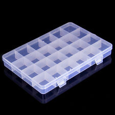 New 24 Compartments Jewelry Bead Storage Box Organizer Container Plastic  Craft