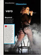BEYONCE 2014 magazine print ad celebrity clipping SINGER SONGWRITER sexy legs