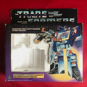 Transformers G1 Vintage 1984 - Communuicator Soundwave - Pre-Rub TM - Box & Foam